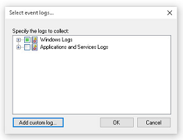 Expand Windows logs...