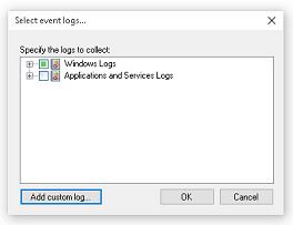 Expand Windows logs...